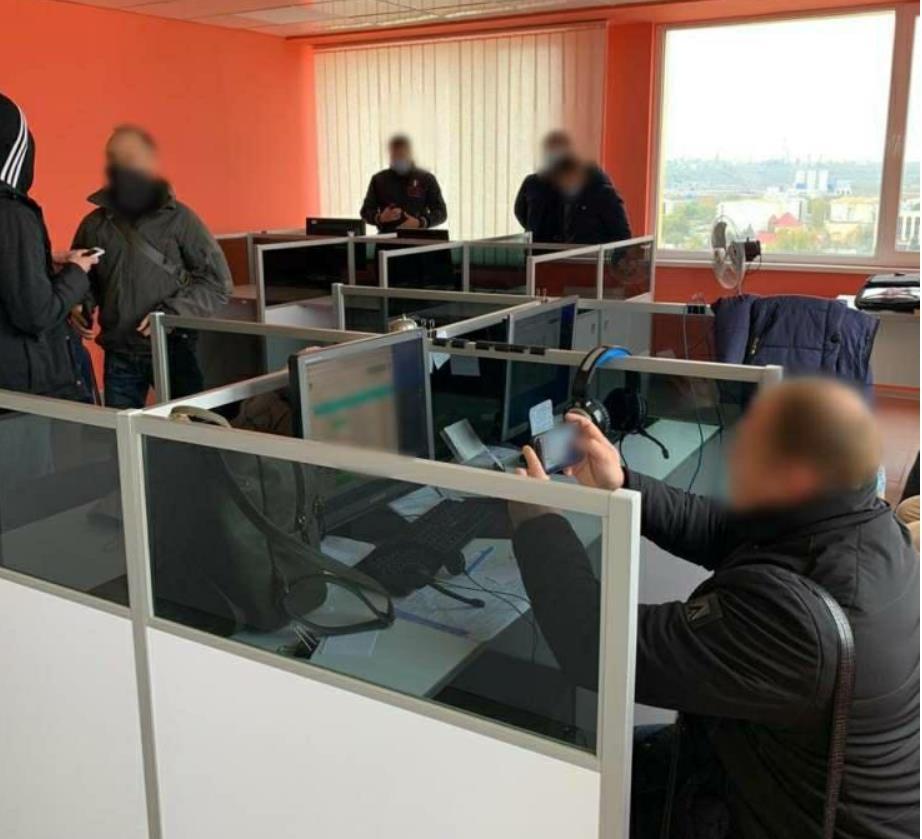 Сотрудниками СБУ и киберполиции был проведен обыск колл-центра в Одессе