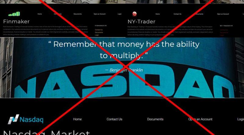 Тройнята - мошенники Nasdaq-Market, NY-Trader и Finmaker