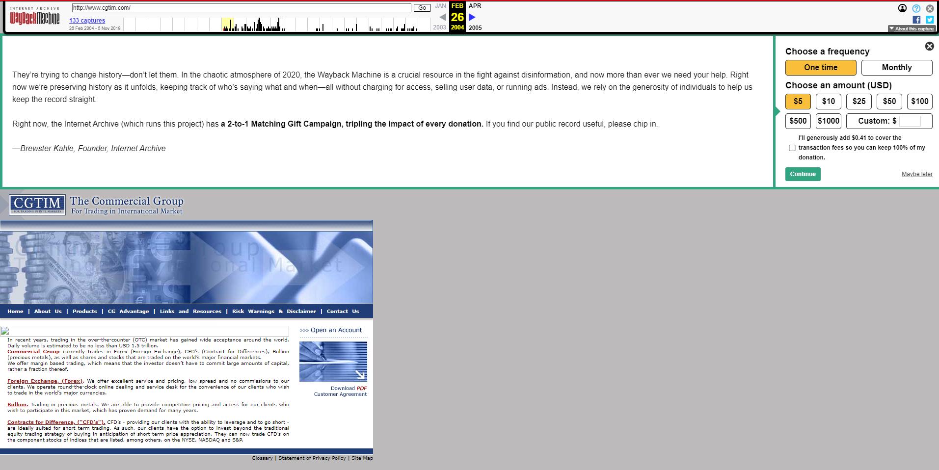 Брокер CGFX – ребрендинг CGTIM