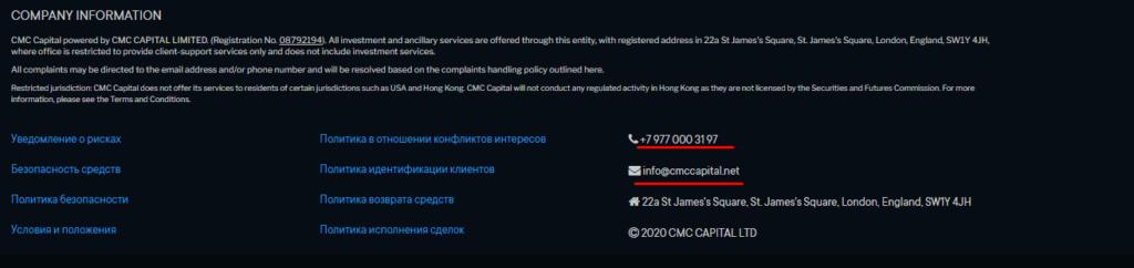 Брокер CMC Capital: что скрывается за громким именем?