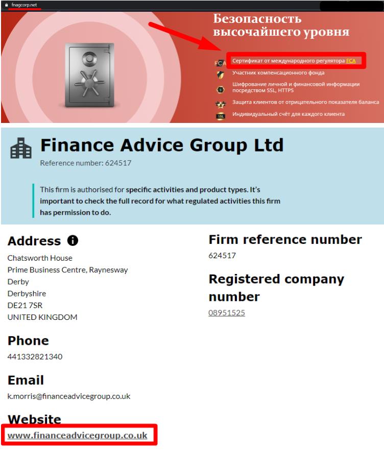 Аферисты Finance Advice Group используют украденные данные