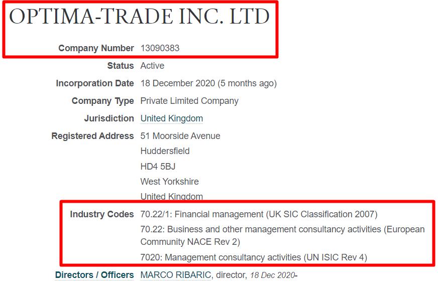 Документы Optima-Trade подтверждают факт мошенничества