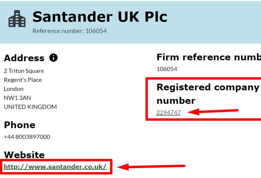 Лицензия компании Santander UK Plc