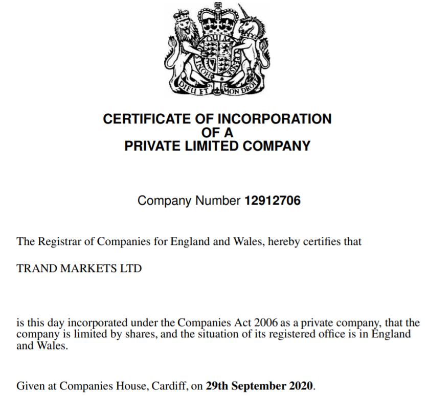 Trand Markets используют чужие сертификаты для обмана своих клиентов