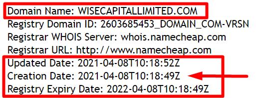 Информация о домене wisecapitallimited.com