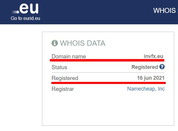 Информация о домене nvfx.eu