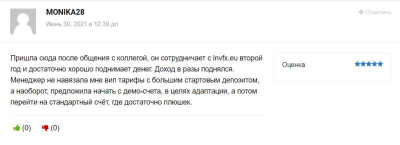 Все положительные отзывы про invfx.eu - ФЕЙК